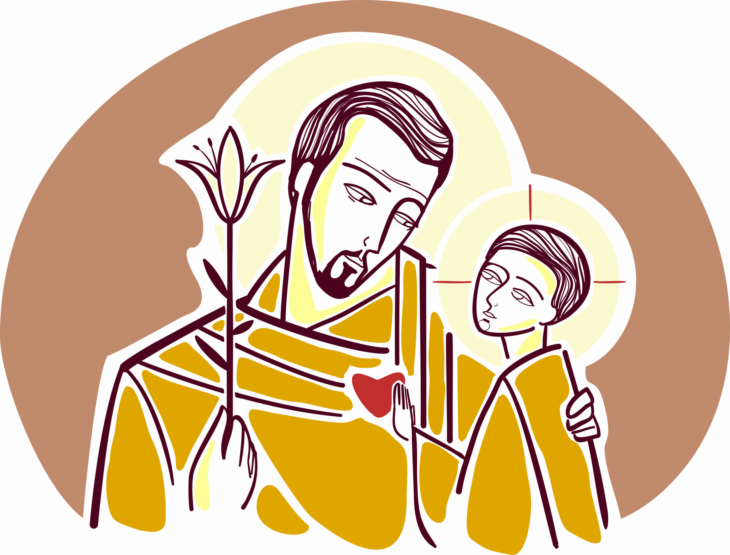 Saint Joseph, the adopted father of Jesus